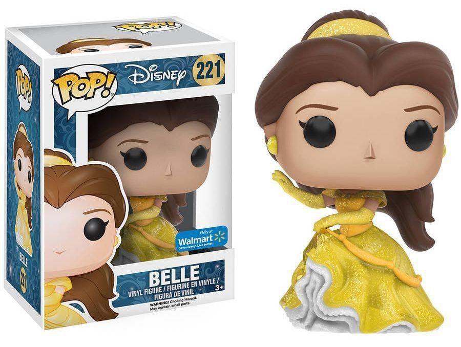 Funko Pop! Belle (Glitter): Disney (Exclusivo) #221 - Funko