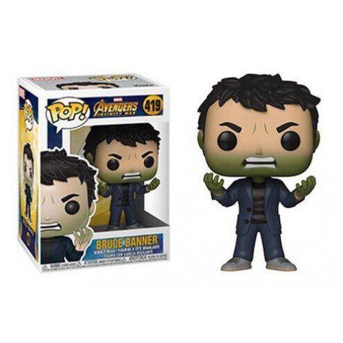Funko Pop! Bruce Banner: Vingadores Guerra Infinita (Avengers Infinity War) #419 - Funko