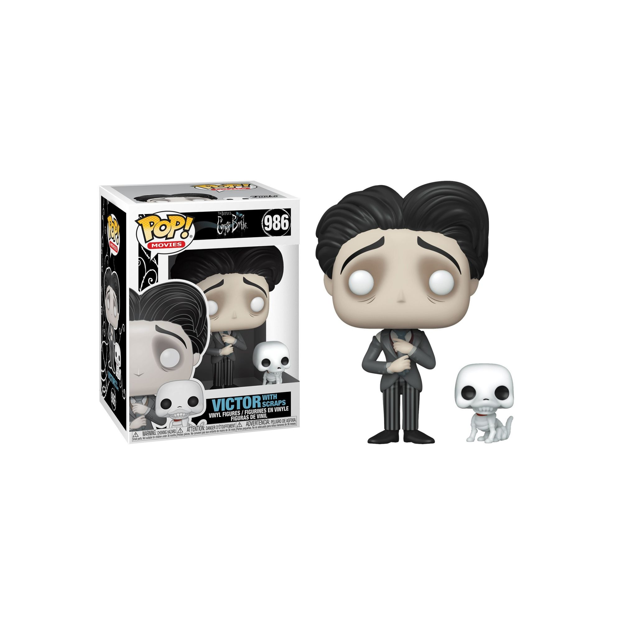 Funko Pop! & Buddy: Victor with Scraps: A Noiva Cadáver: (Corpse Bride)  #986 - Funko