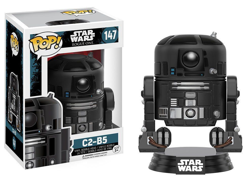 Funko Pop R2-D2 PRETO C2-B5: Star Wars Rogue One #147 Funko Pop