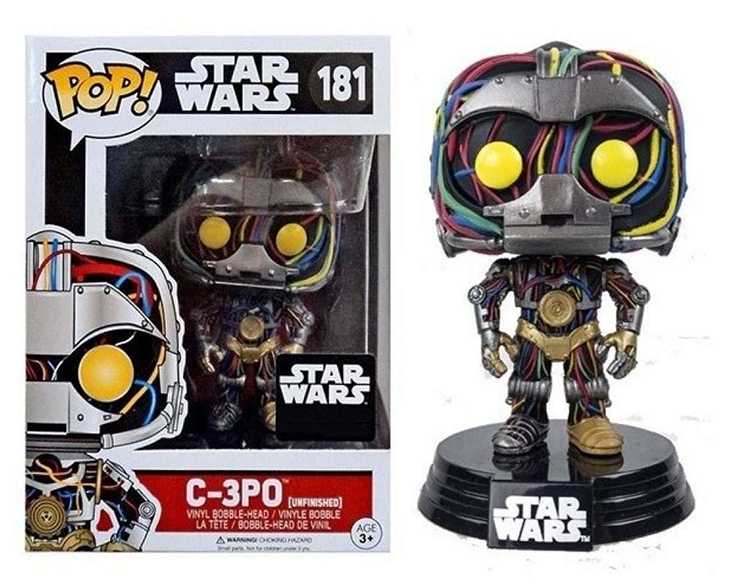 Pop! C-3PO (Unfinished): Star Wars (Exclusivo) #181 - Funko
