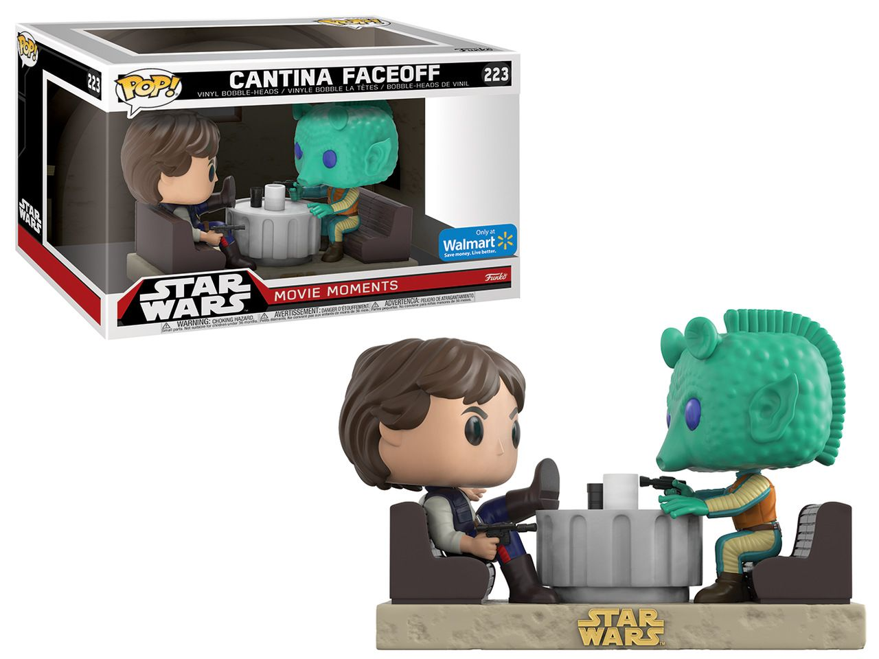Pop! Cantina Faceoff (Han Solo/Greedo): Star Wars (Movie Moments) Exclusivo #223 - Funko (Apenas Venda Online)