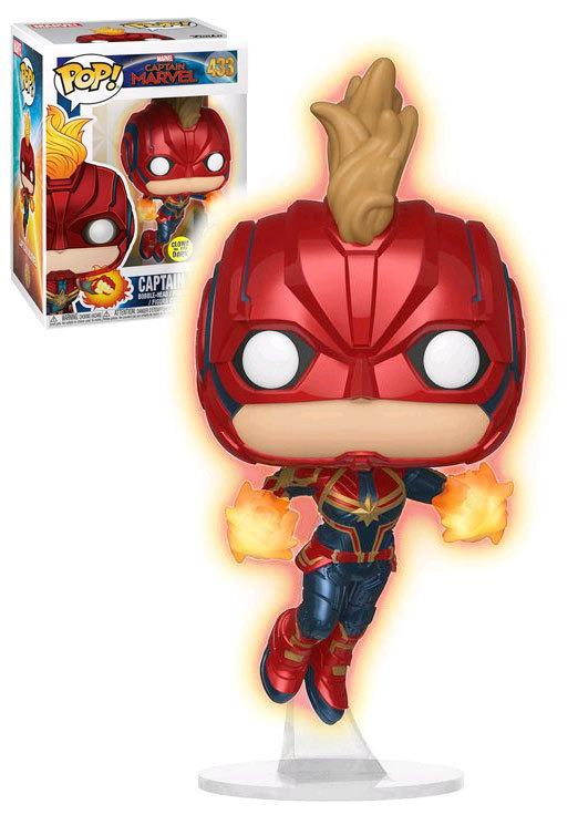 Pop! Capitã Marvel (Captain Marvel): Capitã Marvel (Captain Marvel) Exclusivo #433 - Funko