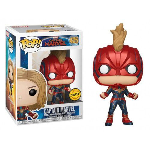 Pop! Capitã Marvel (Captain Marvel) Chase: Capitã Marvel (Captain Marvel) #425 - Funko