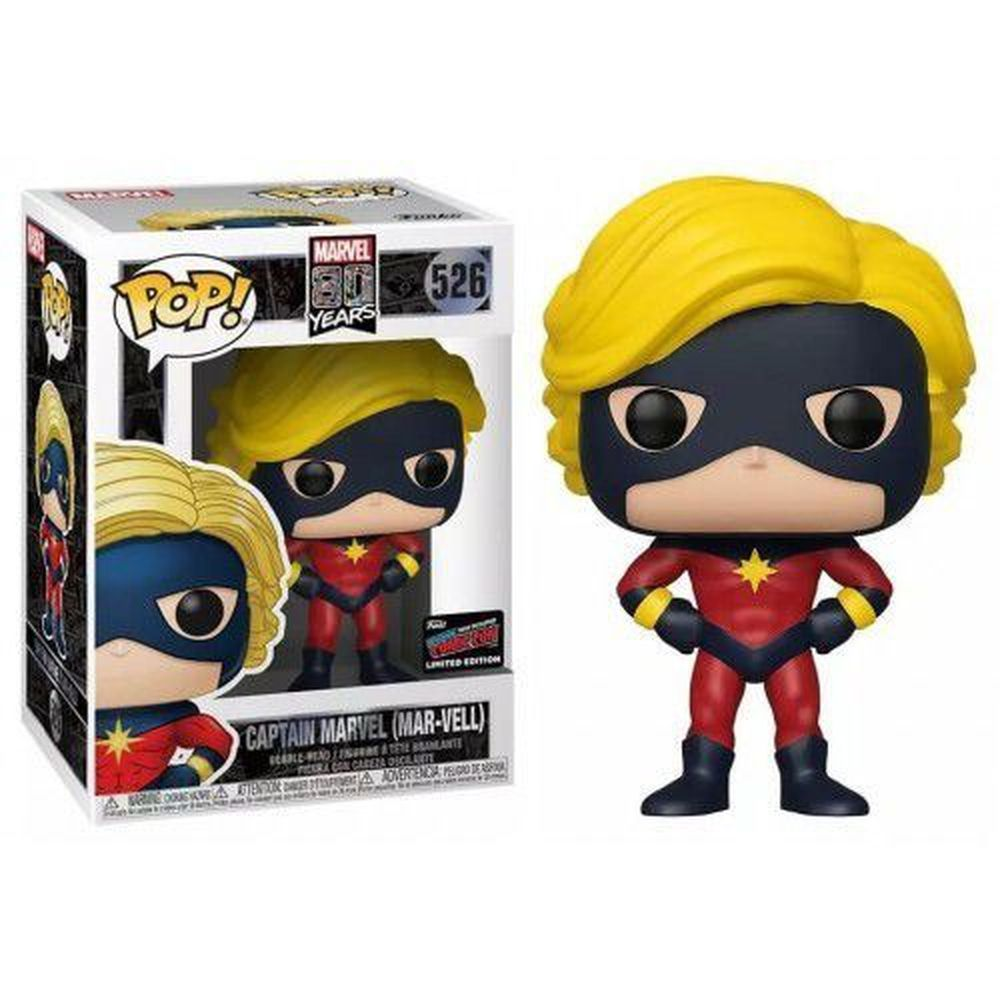 Pop! Capitão Marvel (Captain Marvel Mar-Vell): Marvel 80th (Exclusivo NYCC) #526 - Funko