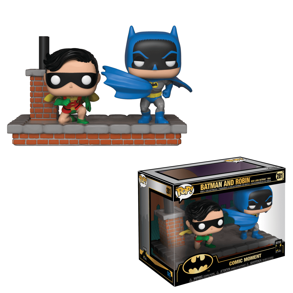 Funko Pop! Comic Moment Batman e Robin (1972 Version): 80th Anniversary #281 - Funko
