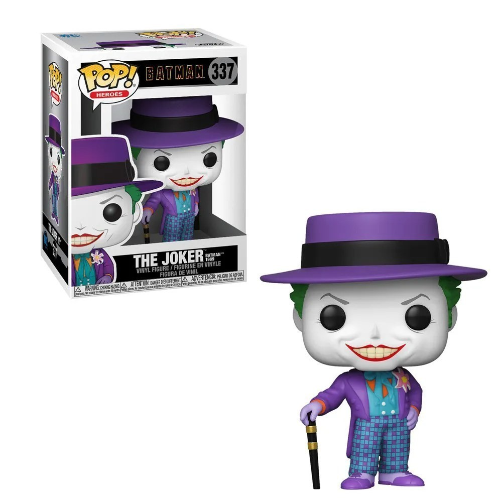 Funko Pop! Coringa (Joker): Batman (1989) #337 - Funko