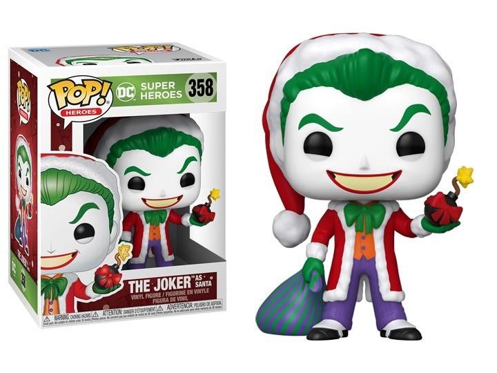 Funko Pop! Coringa Papai Noel: (The Joker as Santa): DC Holiday (Dc Comicis) #358  - Funko