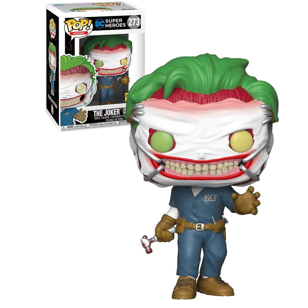Pop! Coringa (The Joker Death of the Family): DC Super Heroes (Exclusivo) #273 - Funko