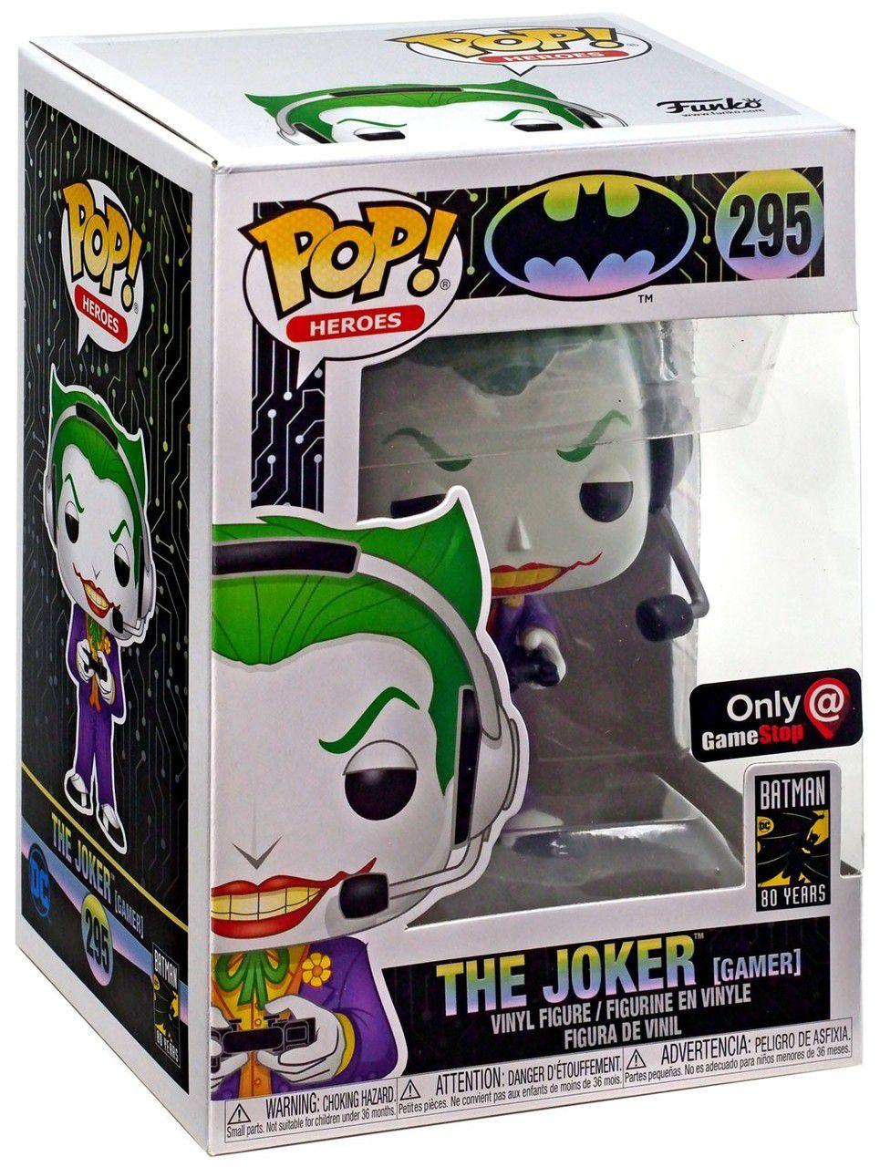 Funko Pop! Coringa (The Joker Gamer): DC Comics (Exclusivo) #295 - Funko