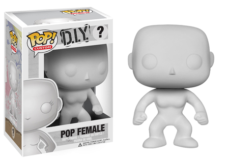 POP! Custom: DIY Female Branco - Funko (EXCLUSIVO)