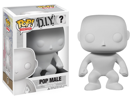 POP! Custom: DIY Male Branco - Funko (EXCLUSIVO)