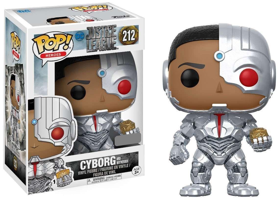 Funko Pop Cyborg Com a Caixa Materna Exclusivo: Liga da Justiça (Justice League) #212 - Funko Black Friday (Apenas Venda Online)