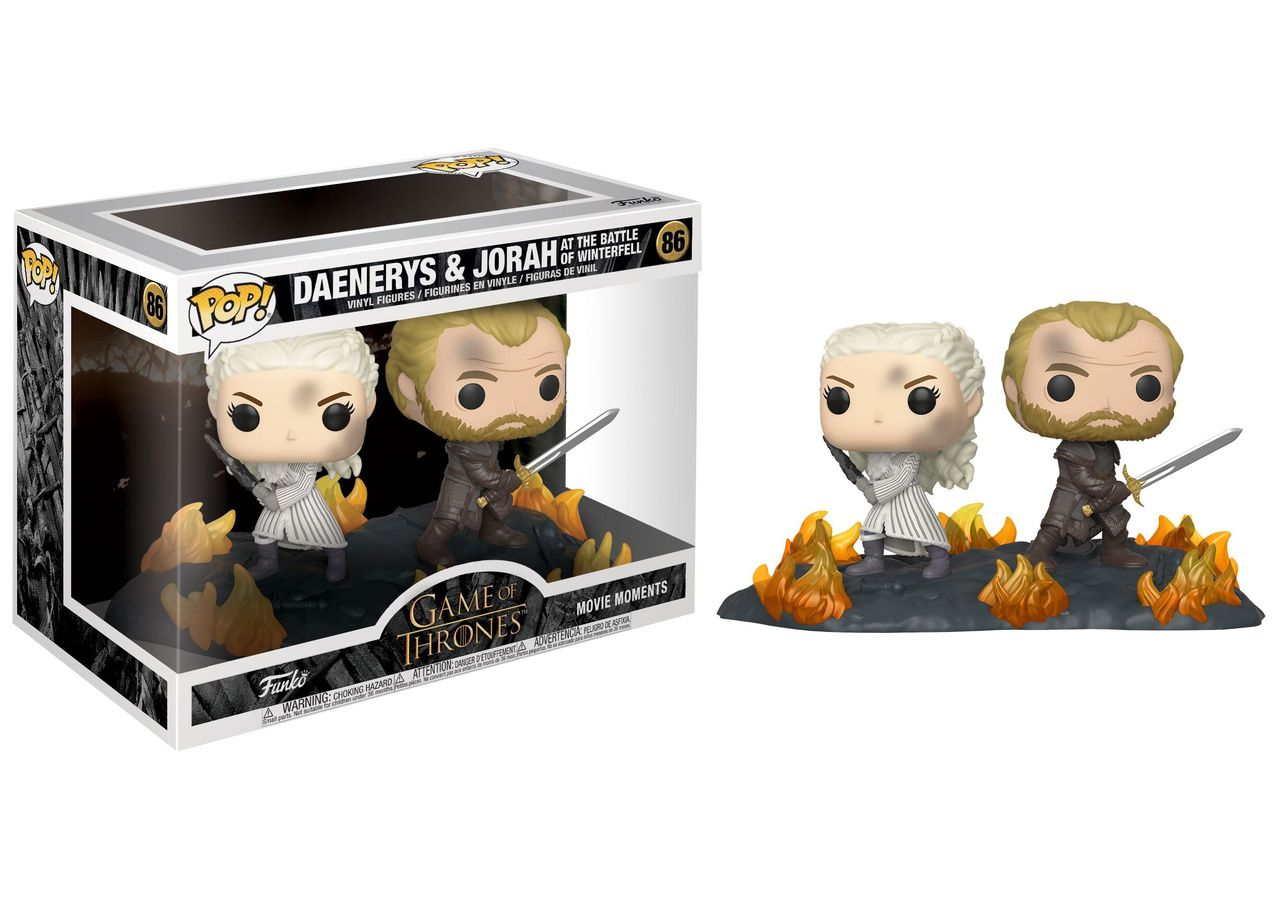Funko Pop! Daenerys e Jorah (Battle of Winterfell): Game Of Thrones (TV Moment) #86 - Funko