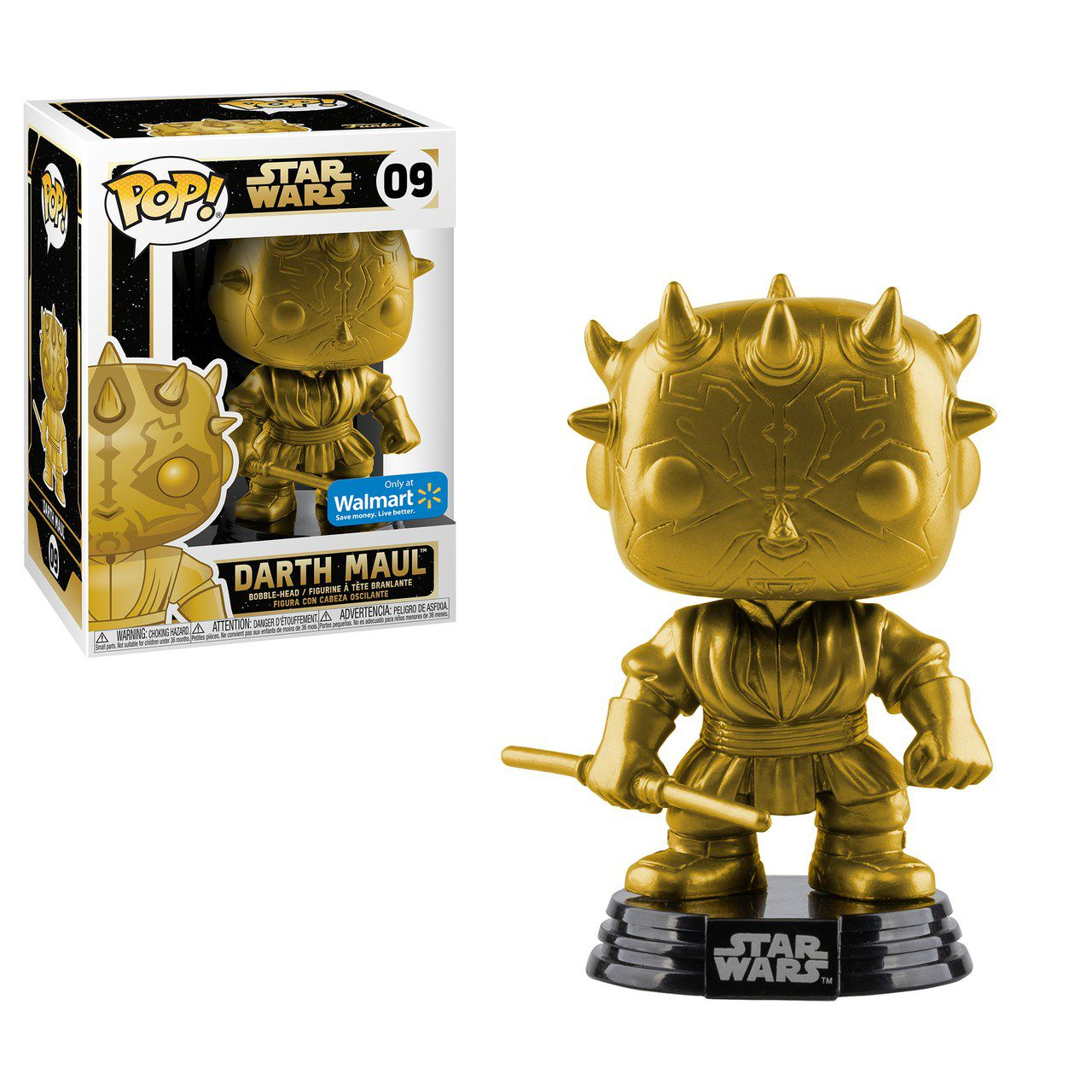 Pop! Darth Maul: Star Wars (Gold Metallic) Exclusivo #09 - Funko (Apenas Venda Online)