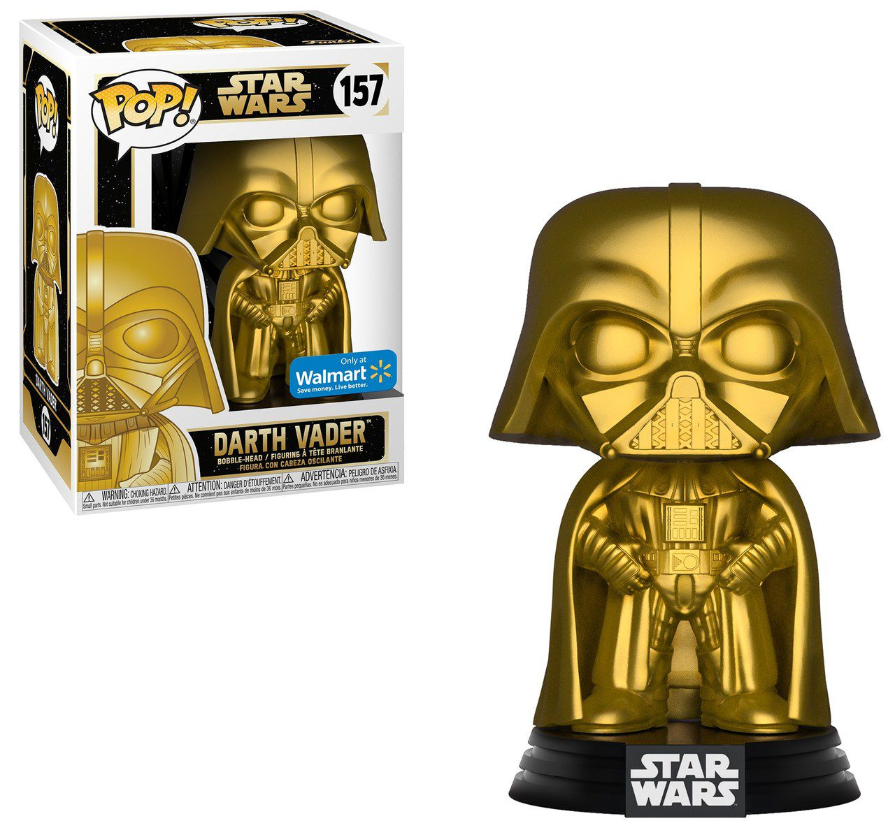 Pop! Darth Vader (Gold Metallic): Star Wars (Exclusivo) #157 - Funko (Apenas Venda Online)