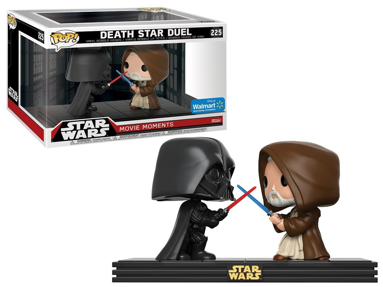 Pop! Death Star Duel (Darth Vader/Obi Wan Kenobi): Star Wars (Movie Moments) Exclusivo #225 - Funko (Apenas Venda Online)
