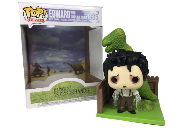 Funko Pop! Deluxe: Edward Scissorhands #985: Edward with Dinosaur Shrub:  Edward Mãos de Tesoura (Edward Scissorhands) - Funko