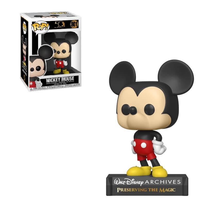 Funko Pop! Disney Arquivos 50 Anos: Mickey Mouse #801 - Funko