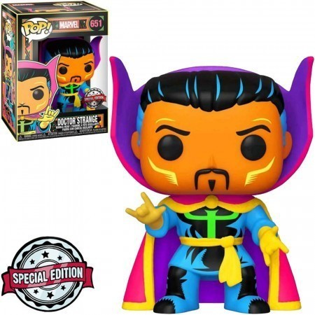 Funko Pop! Doutor Estranho (Doctor Strange) Black Light: Doutor Estranho (Doctor Strange) Marvel #651 - Funko - AG
