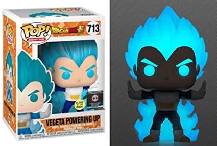 Funko POP! Dragon Ball Z: Vegeta Super Saiyajin God Blue Powering Up (Glows In The Dark) #713 - Funko