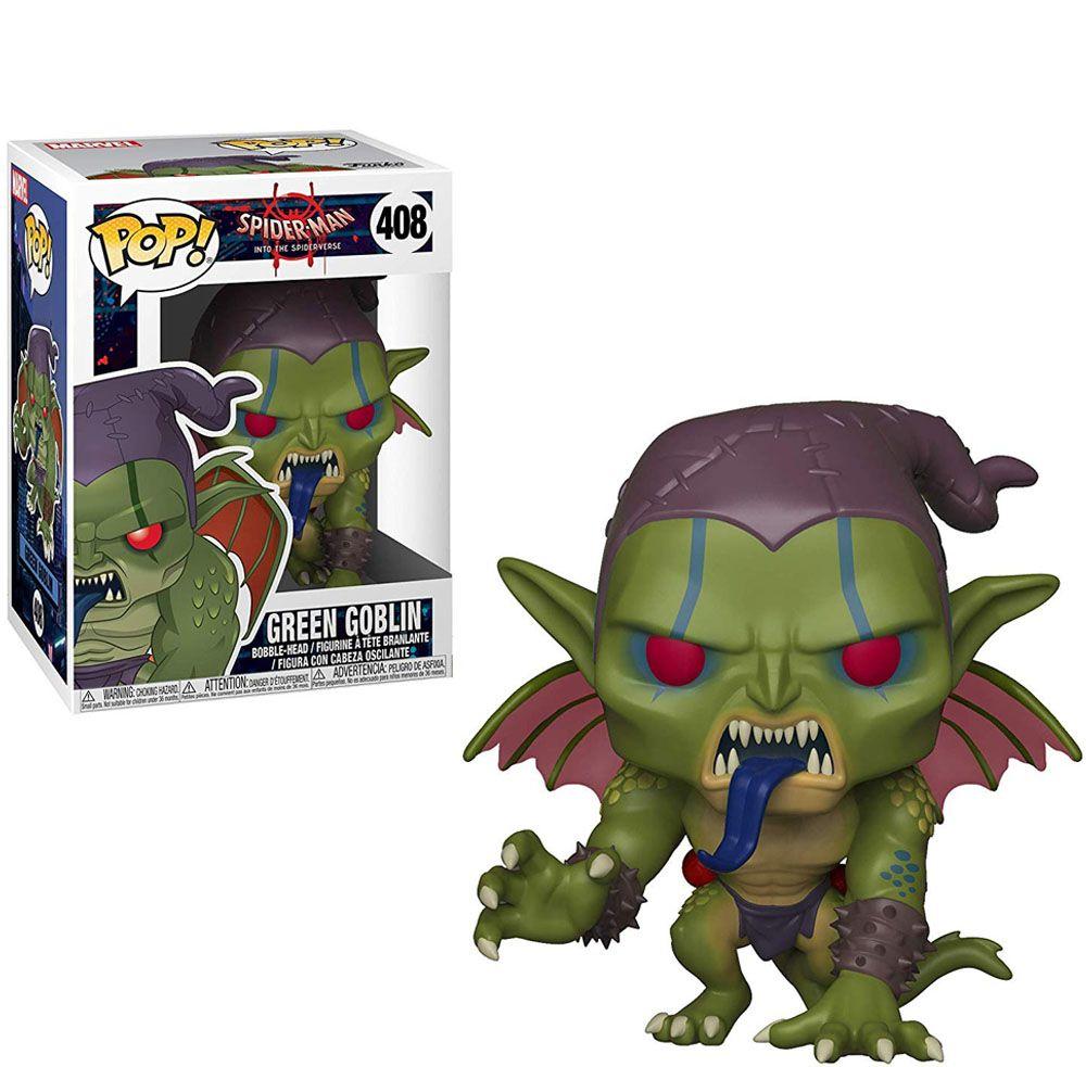 Funko Pop! Duende Verde (Green Goblin): Homem Aranha: No Aranhaverso (Spider-Man Into the Spider-Verse) #408 - Funko