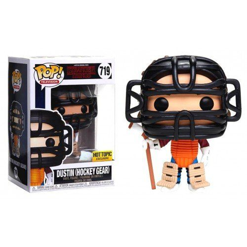 Pop! Dustin (Hockey Gear): Stranger Things (Exclusivo) #719 - Funko