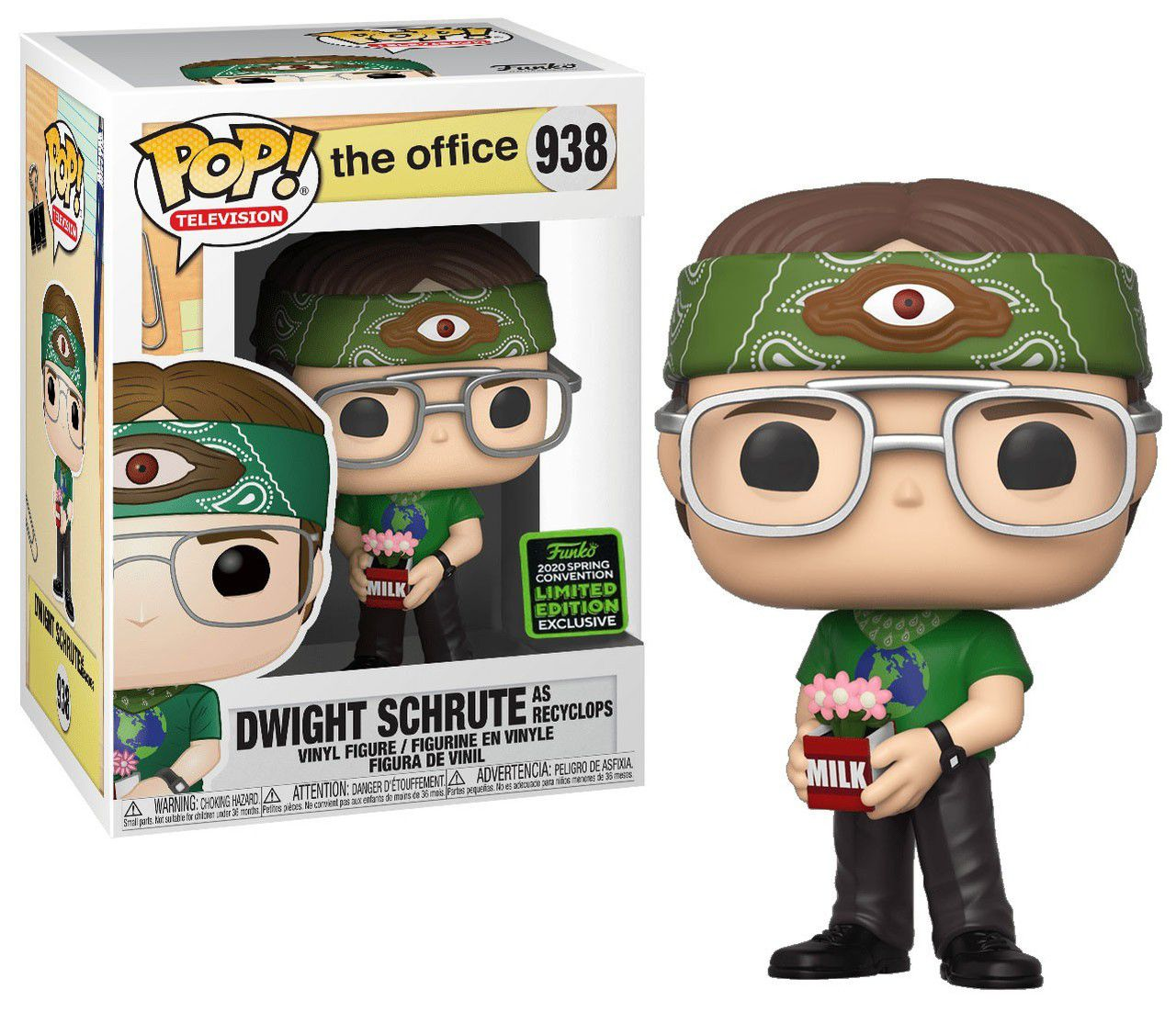 Funko Pop! Dwight Schrute (As Recyclops): The Office (EXCLUSIVO SDCC 2020) (Limited Edition) Exclusivo #938 - Funko