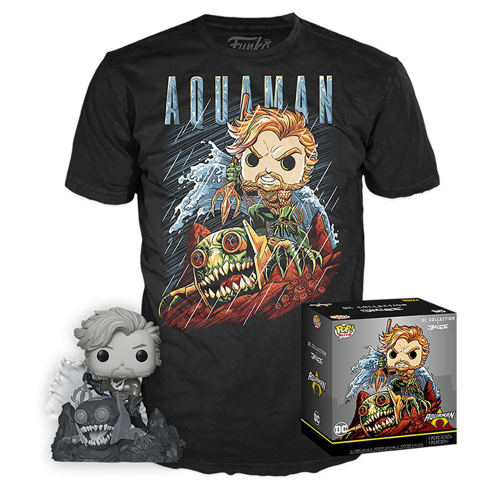 Pop! e Camiseta Aquaman (Hush): DC Collection Jim Lee (Exclusivo) #254 - Funko