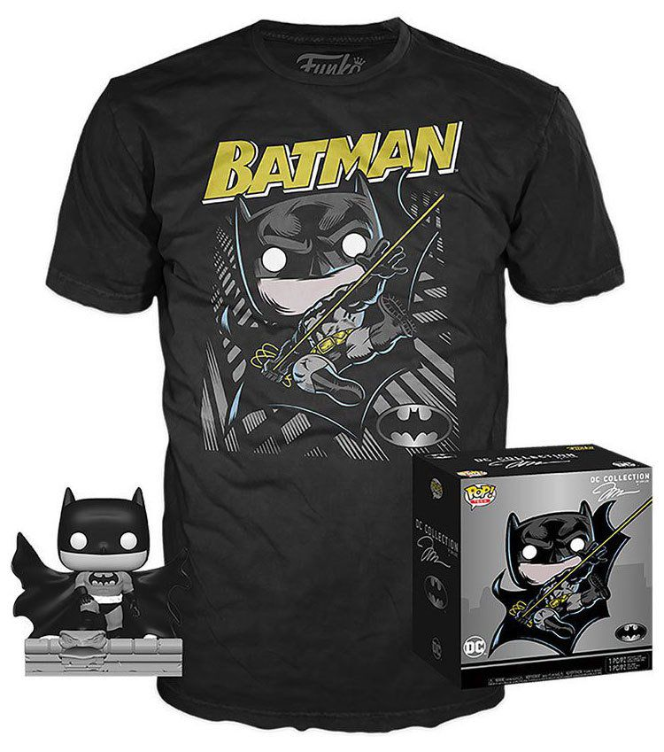 Pop! e Camiseta Batman (Hush): DC Collection Jim Lee (Exclusivo) #239 - Funko
