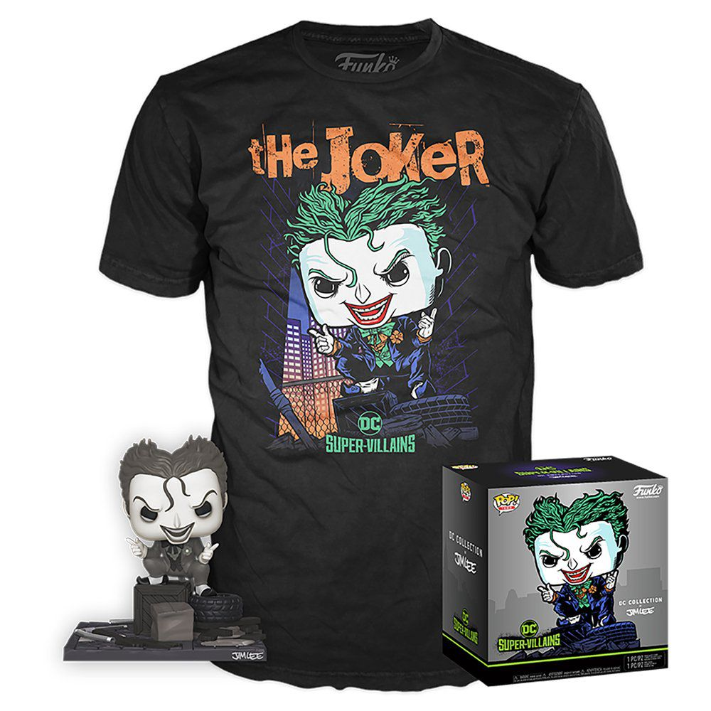 Pop! e Camiseta Coringa (Joker) (Hush): DC Collection Jim Lee (Exclusivo) #240 - Funko