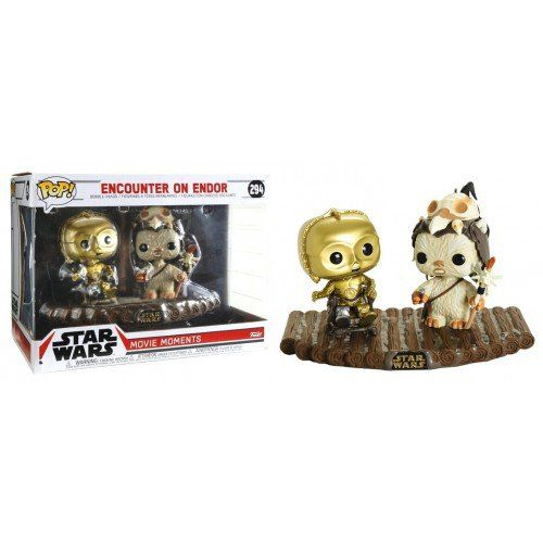Funko Pop! Encounter on Endor (C-3PO/Ewok): Star Wars (Movie Moments) Exclusivo #294 - Funko