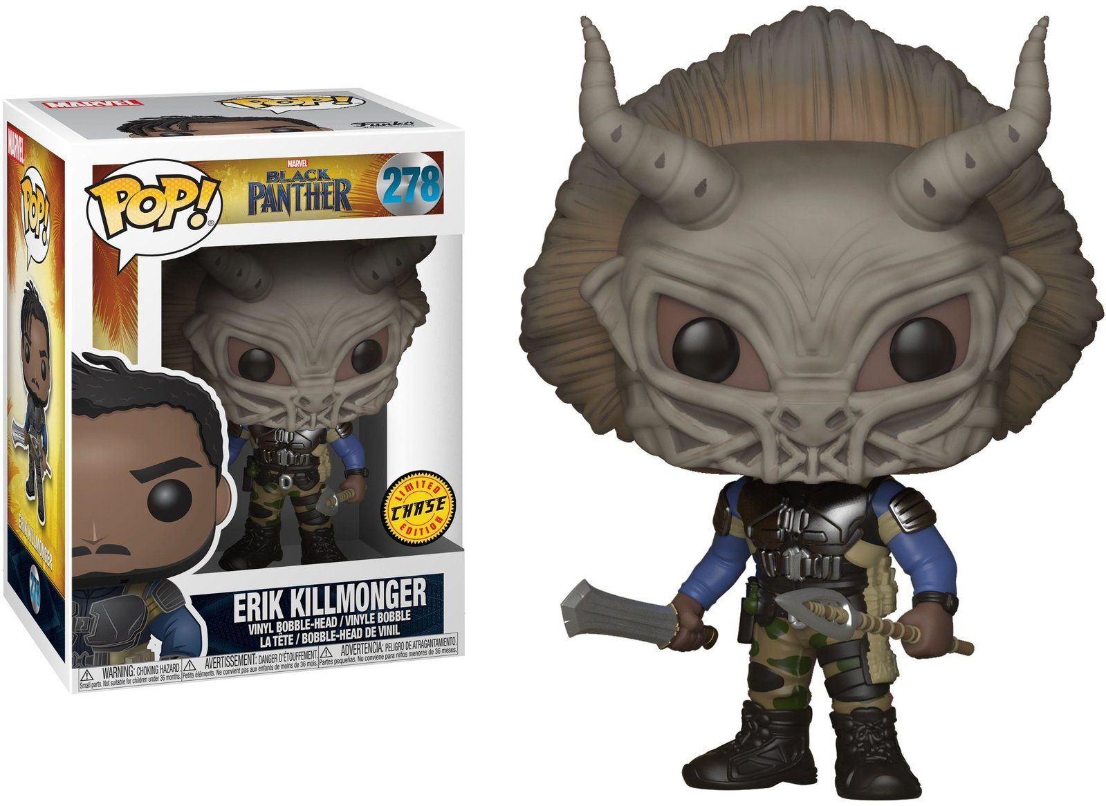 Funko Pop Erik Killmonger (Chase): Pantera Negra (Black Panther) #278 - Funko