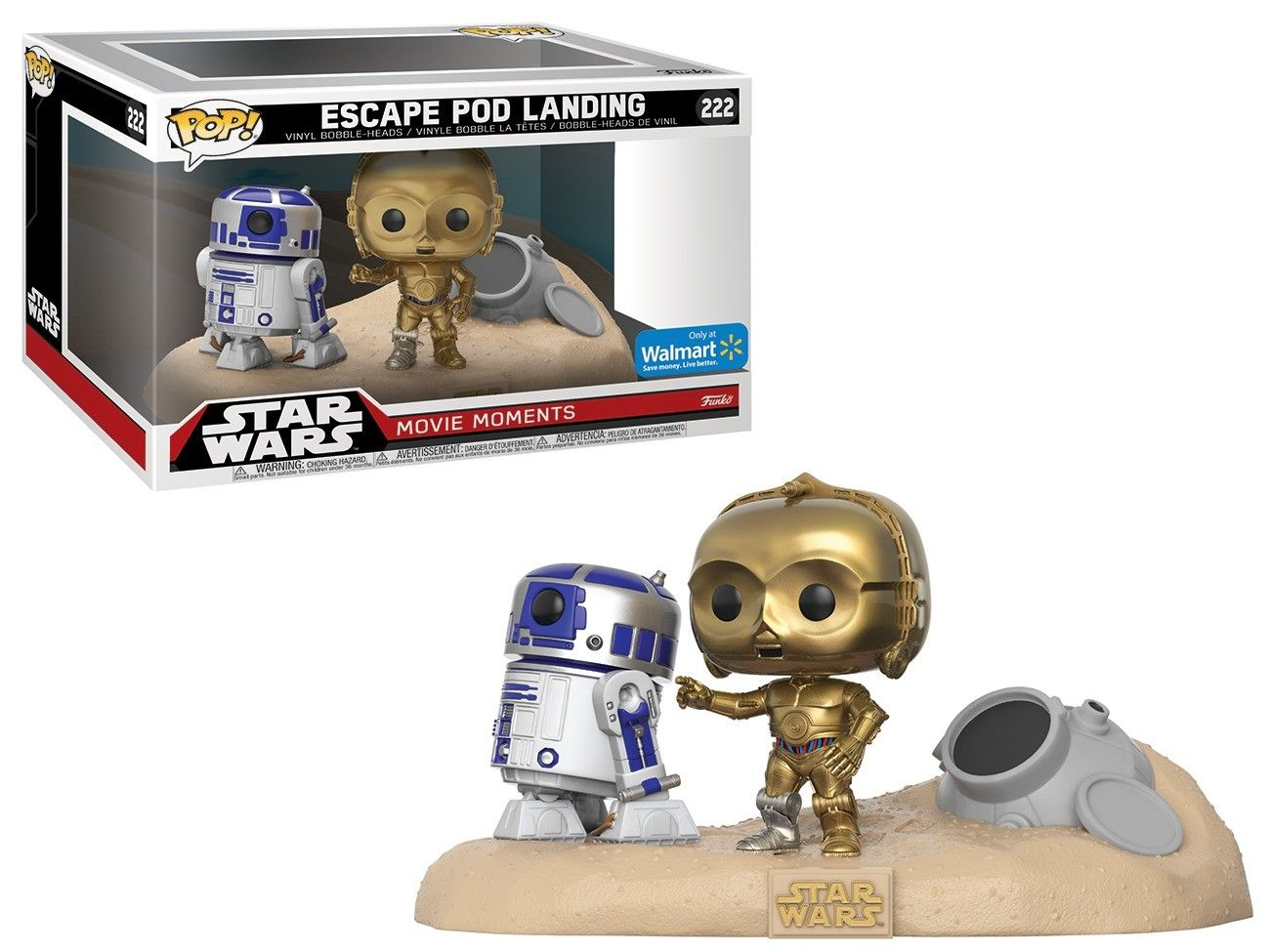 Funko Pop! Escape Pod Landing (R2-D2/C-3PO): Star Wars (Movie Moments) Exclusivo #222 - Funko