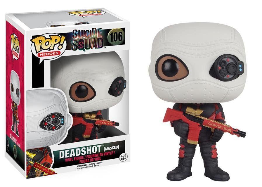 Funko Pop Pistoleiro com Máscara (Deadshot Masked): Esquadrão Suicida #106 - Funko