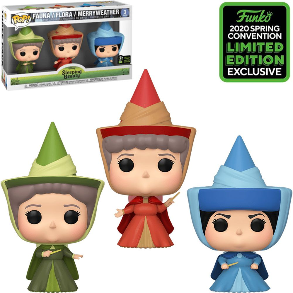 Pop! Fauna/Flora/Merryweather: A Bela Adormecida (Sleeping Beauty) #3 - Exclusive Emerald City Comic Con - Funko