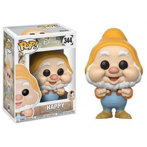 Funko Pop Feliz (Happy): Branca de Neve e os Sete Anões (Disney) #344 - Funko