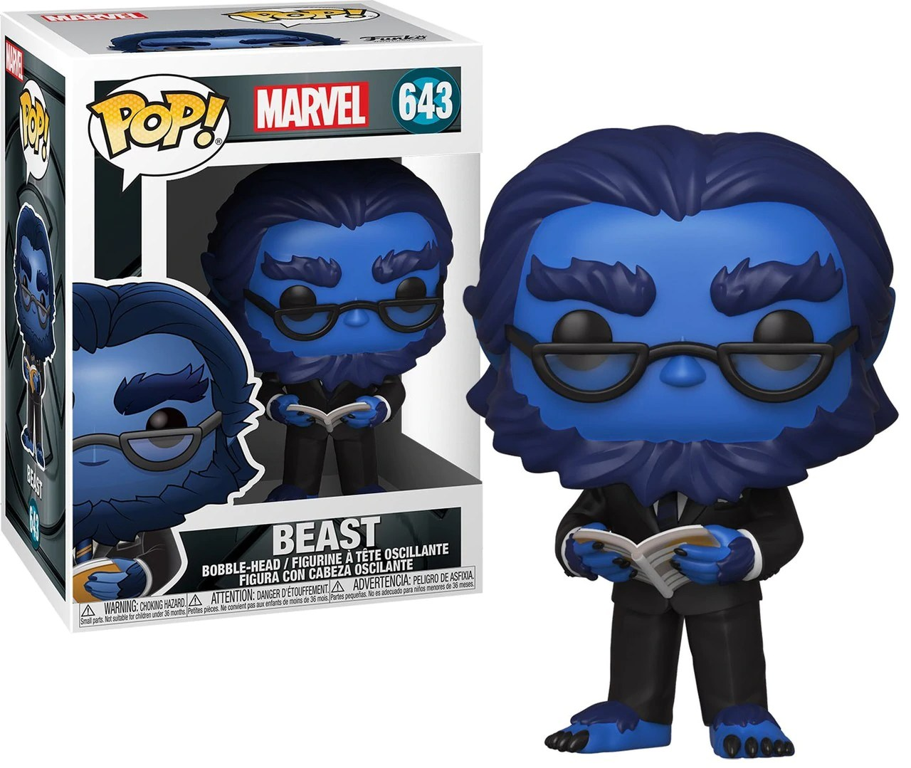 Funko Pop! Fera (Beast) Flocked Marvel: X-Men O Filme Aniversário 20 Anos (X-Men 20th Anniversary)  #643 - Funko