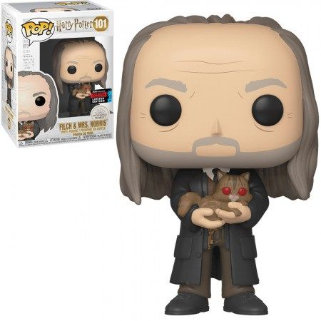 Pop! Filch & Mrs Norris: Harry Potter (Exclusivo NYCC) #101 - Funko