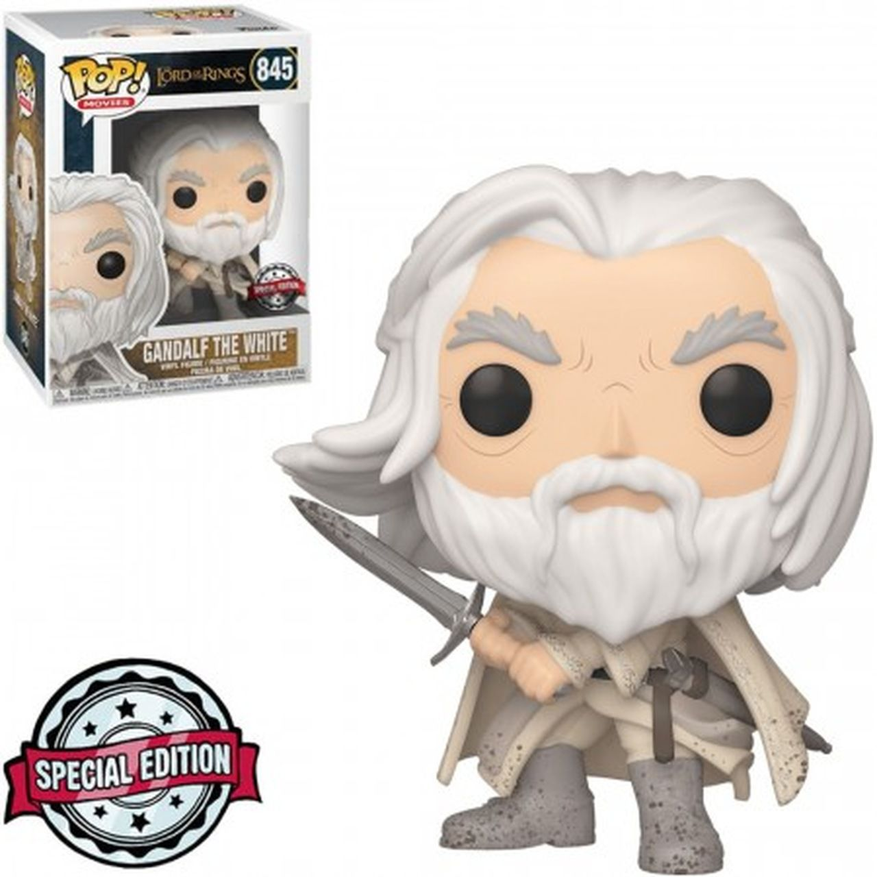 Pop! Gandalf (the White): O Senhor dos Anéis (The Lord of the Rings) Exclusivo #845- Funko