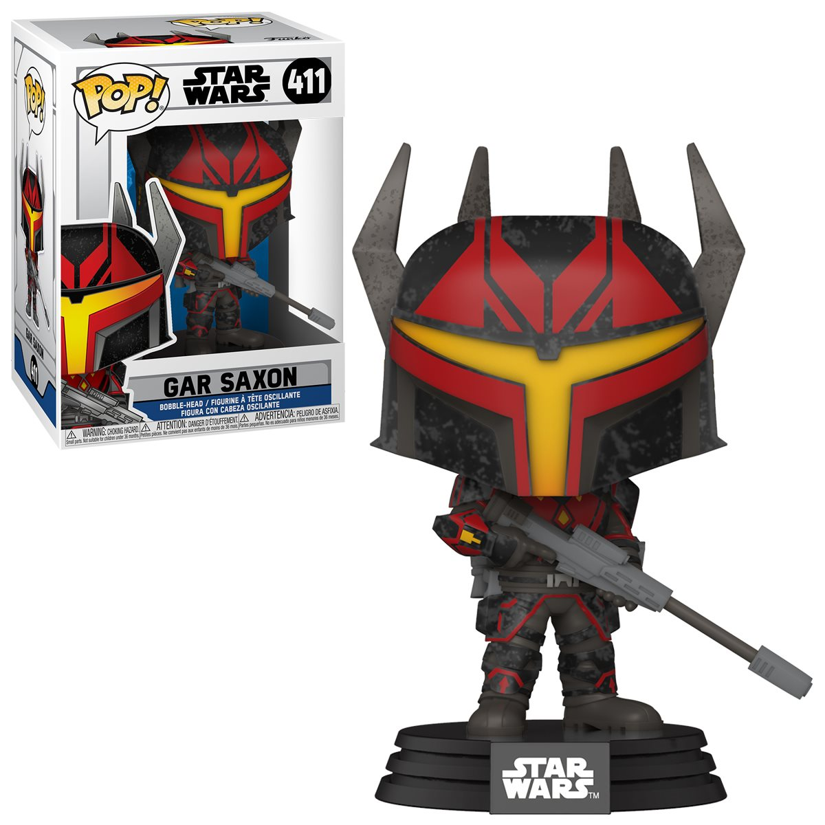 PRÉ VENDA: Funko Pop! Gar Saxon: Star Wars: The Clone Wars #411 - Funko