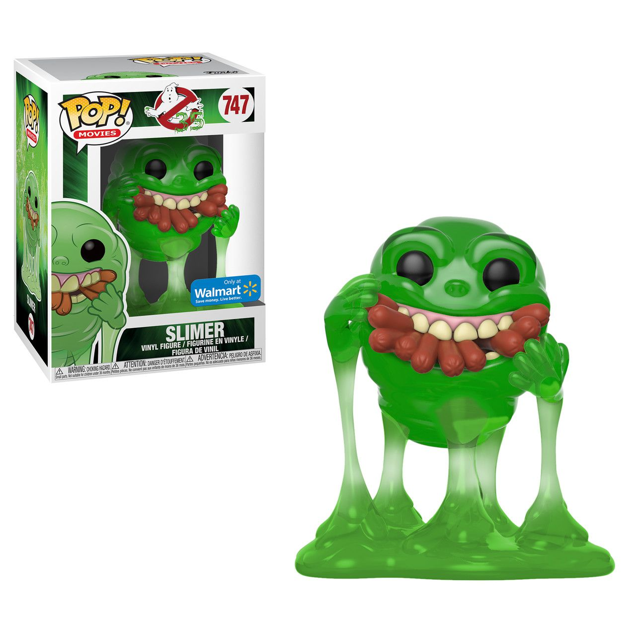 Pop! Geleia (Slimer With Hot Dogs) (GITD) : Os Caça-Fantasmas (Ghostbusters) Exclusivo #747 - Funko