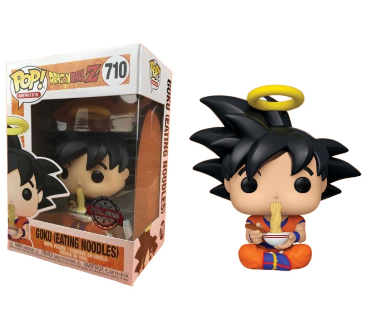 Pop! Goku (Eating Noodles): Dragon Ball Z (Exclusivo) #710 - Funko