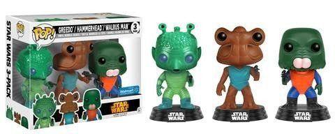 Funko Pop Greedo, Hammerhead & Walrus Man: Star Wars (Exclusivo) (3 Pack) - Funko