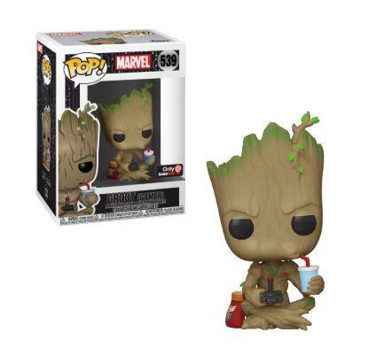 Funko Pop! Groot (Gamer): Guardiões da Galaxia (Exclusivo) #539 - Funko