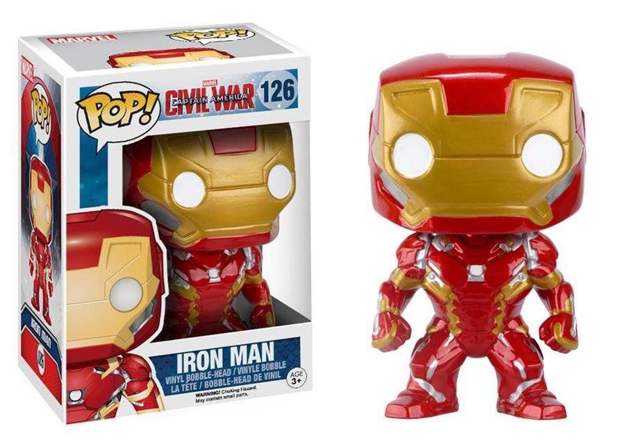 Funko Pop Homem de Ferro (Iron Man): Capitão América Guerra Civil #126 - Funko