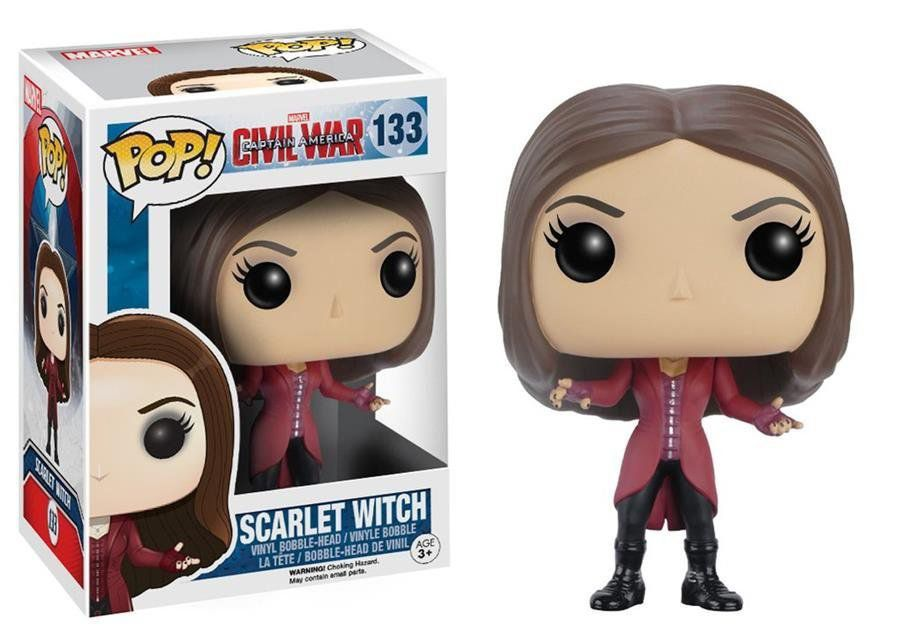 Funko Pop Feiticeira Escarlate (Scarlet Witch): Guerra Civil #133 - Funko