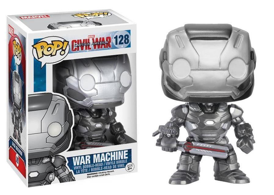 Funko Pop Máquina de Combate (War Machine): Capitão América: Guerra Civil #128 - Funko