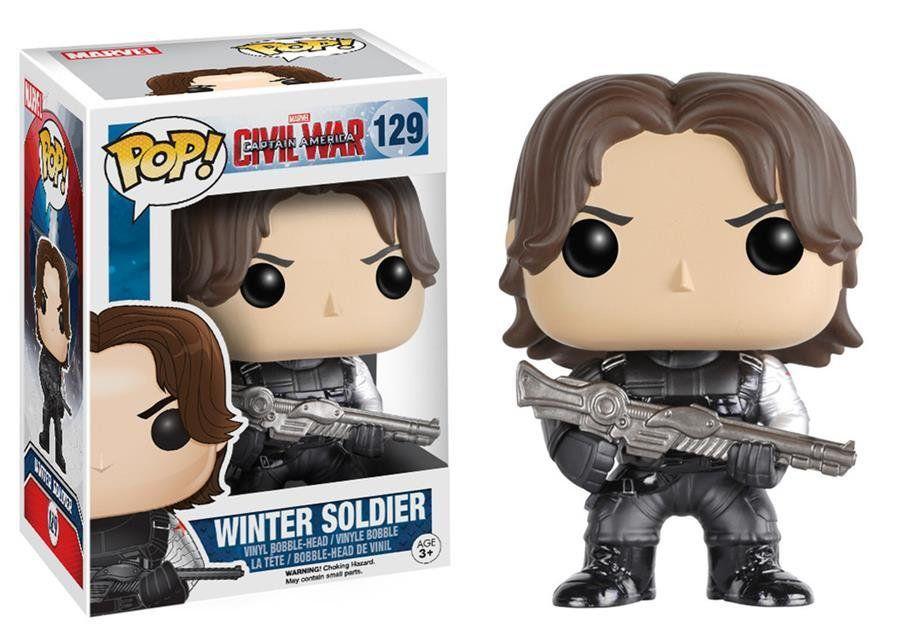 Funko Pop Soldado Invernal (Winter Soldier): Capitão América: Guerra Civil #129 - Funko