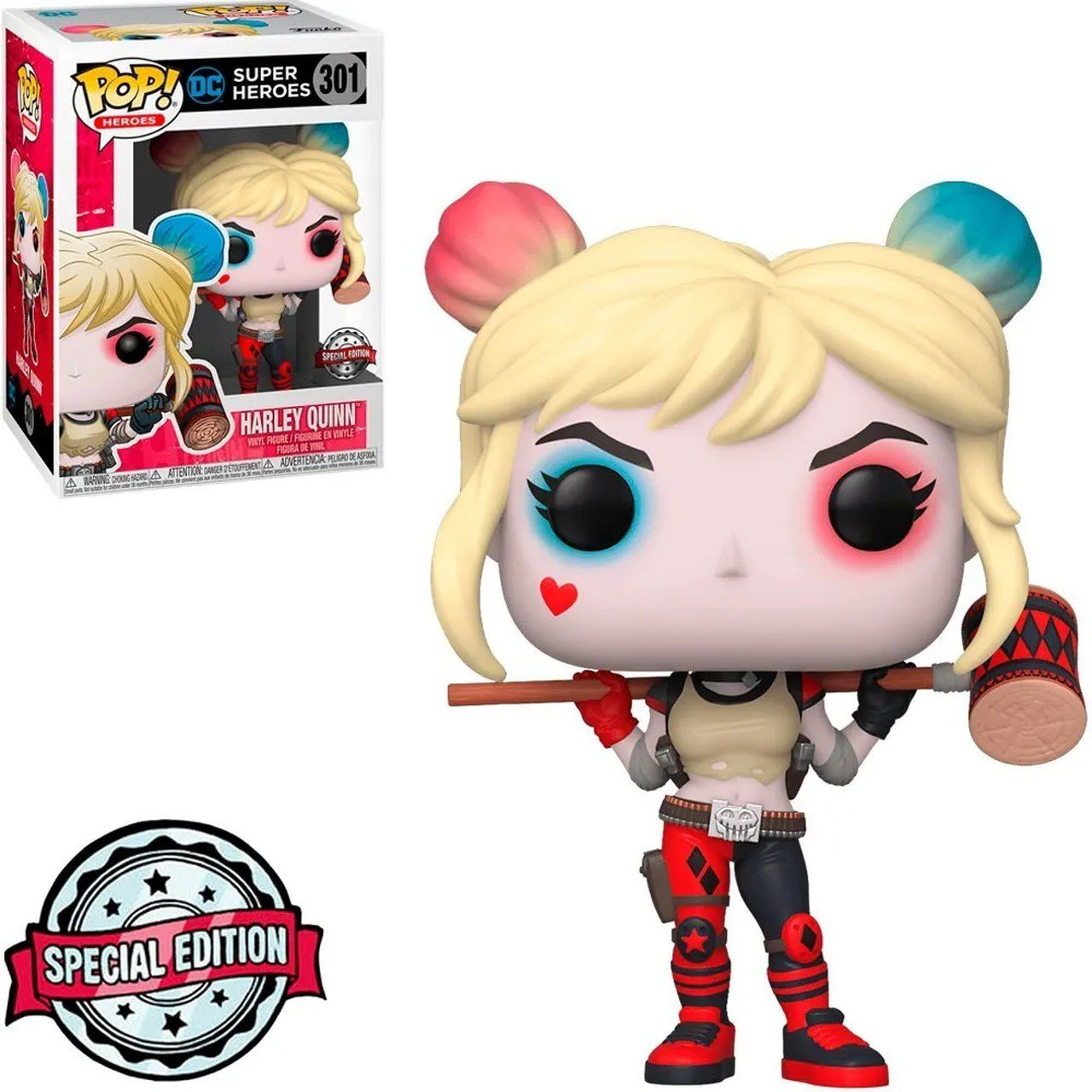 Funko Pop! Harley Quinn (with Mallet): DC Super Heroes #301 - Exclusive - Funko